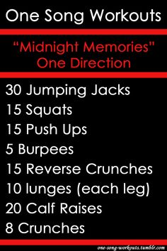 One Song Workouts : Midnight Memories