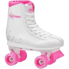 The classically cute girls' high top traditional Roller Star 350 quad roller skate from Roller Derby features a comfort fit boot with padded lining and reinforced heel support to promote a good skating experience. Roller Derby Skates, Roller Derby Girls, Quad Skates, Roller Skating, Skate Girl, Skate 3, Skate Shoes, High Top Boots, Childrens Shoes