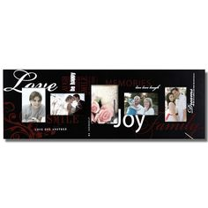 "Furnistar Decorative Black Wood Wall Hanging Graffiti Picture Photo Frame ""Love and Joy"""