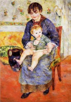 Mother and Child, 1881 - Pierre-Auguste Renoir (French, 1841-1919)