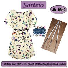 #Sorteio Especial:1 Vestido + Pincéis decoração unhas Romwe.