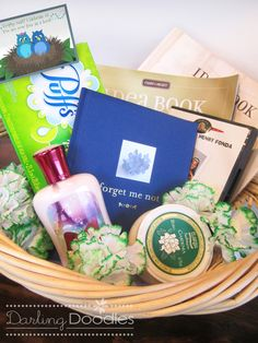 For parents from son/daughter; gift basket for coping with Empty Nest Syndrome. Good for when you move out. Or for those of you that stay home until your wedding day ;)