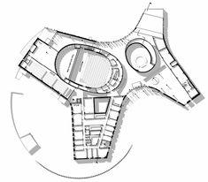 Guangzhou Opera House - Zaha Hadid Architects - 2nd floor plan