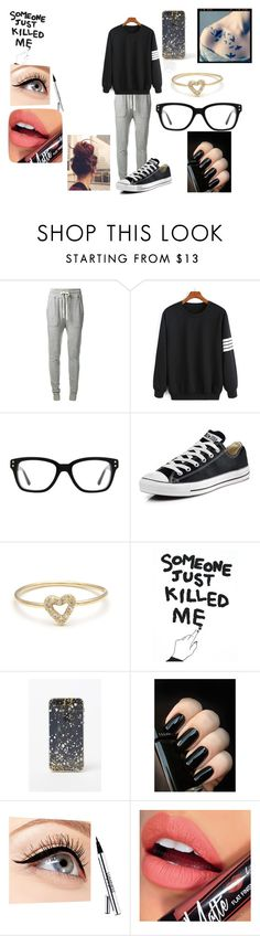 """""""Time of the month part 3"""" by anime-nerdygirl ❤ liked on Polyvore featuring James Perse, Converse, House Of Voltaire, LA: Hearts, Luminess Air, Fiebiger, timeofthemonth and PERIODS"""