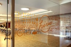 Environmental Graphis for Hive Cafe / Designed by Leaf Design @enviromeant