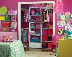 Small Kids Bedroom Ideas Design, Pictures, Remodel, Decor and Ideas - page room closet Pink Closet, Closet Bedroom, Closet Space, Teen Closet, Closet Redo, Bedroom Wall, Cheap Closet, Comfy Bedroom, Boy Decor