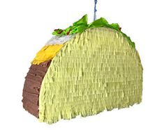 """Taco Supreme Piñata - 17.5"""" x 11.5"""" x 4.5"""" - 6lb Candy Capacity 