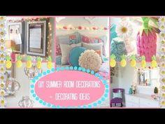 DIY: Summer Room Decorations + Ideas for Decorating!! | Jessica Reid - YouTube