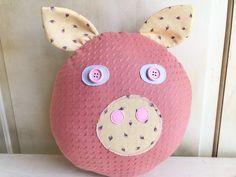 Pig pillow - Vintage pink floral