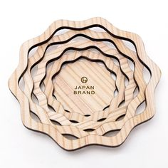 wooden tray laser cut in cedar thinning of Japan designed by Yuko Noguchi
