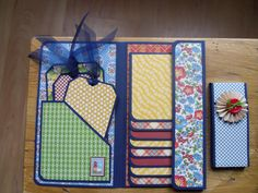 Waterfall Folio using Graphic 45 Mother Goose collection. Inspiration by Ginger Ropp