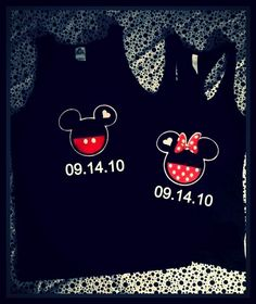 Couple shirts <3  Except maybe another design instead of Mickey & mini