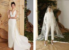 Μοντέρνοι γάμοι: Σύγχρονα νυφικά φορέματα. Ένα νυφικό ξεχωριστό είναι μια άλλη καυτή τάση που μια νύφη μόδας-μπροστά μπορεί να ροκάρει, με τα παντελόνια είναι φοβερό! Κρατήστε την εμφάνισή σας απλή, λακωνική, επιδεικνύοντας τις καμπύλες σας. Formal Dresses, Wedding Dresses, Fashion, Dresses For Formal, Bride Dresses, Moda, Wedding Gowns, Wedding Dress, Fasion