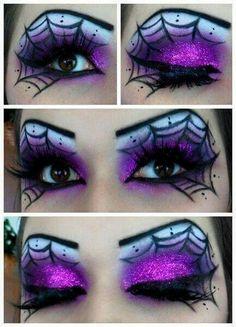 Cobweb eye makeup