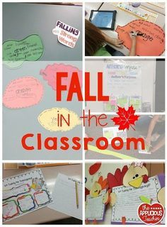 Fall in the classroom- seriously love these ideas for a fall thematic unit! The strong word choice activity? Genius!