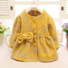 Yeni çocuk giyim kız giyim ceketler Sonbahar giyim Uzun kollu çocuk giyim polar Küçük jakar desenleri mont(China (Mainland))