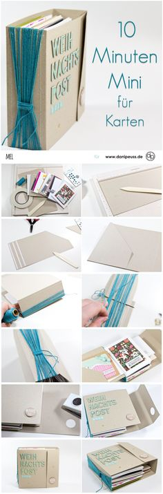 Mini book for card storage from Mel for www. - Mini book for Mel card storage www. Mini Album Scrapbook, Ideas Scrapbook, Mini Albums Scrap, Scrapbook Journal, Diy Paper, Paper Crafts, Mini Album Tutorial, Diy Mini Album, Card Storage