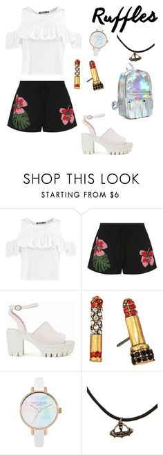 """""""Everyday glam"""" by ali-landy ❤ liked on Polyvore featuring Boohoo, Valentino, Nly Shoes and Marc Jacobs"""