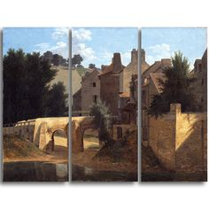 Design Art 'Jean-Victor Bertin - View in the Ile-de-France' Art Print