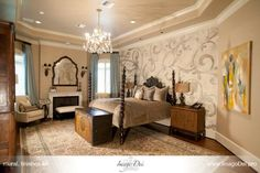 Stencil Wall - Imago Dei |  Murals. Faux Finishes. Fine Art. Venetian Plaster. Glazing. Decorative Painting. Houston