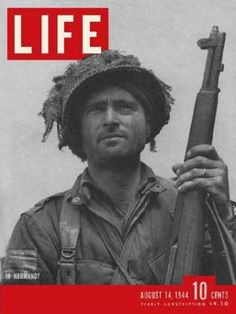 One of the brave soldiers who jumped into Normandy.  My mother knew a couple of men killed in Normandy.