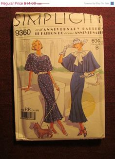 SALE Uncut Simplicity Sewing Pattern 9360 14161820 by EarthToMarrs, $9.80