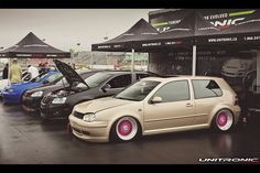 Volkswagen MK4 Golf 1.8T with Pink BBS wheels rocking Unitronic Performance Stage 1 Software