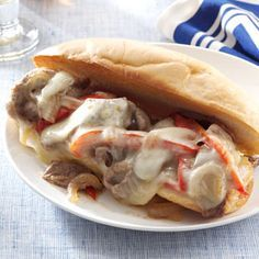 Easy Philly Cheesesteaks Recipe from Taste of Home