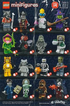 Lego Minifigures Series 14 - Monsters - WhiteFang Review - These Minifigures were released 1/9/2015, and I have 7 of them since yesterday (MKB).