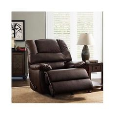 furniture recliner chair lazy boy style brown leather upholstery living room furniture new buy it