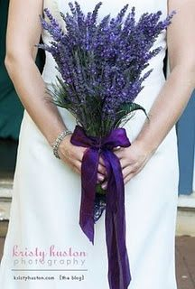 Lavender Wedding Bouquet, not for me but maybe somewhere else...