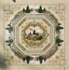 Alpine Seasons Garden Chatelaine European Crosstitch - Passione Ricamo