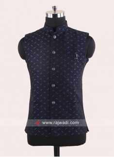 Royal Blue Color, Navy Color, Men Dress Up, Cotton Silk Fabric, Mens Kurta Designs, Fancy Buttons, Nehru Jackets, Girls Wear, Lehenga Choli