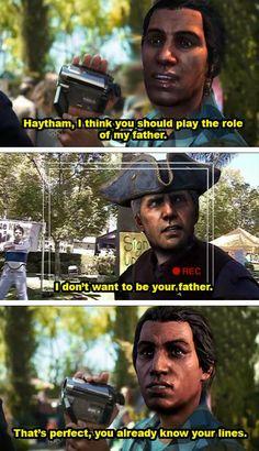 Assassin's Creed III. Connor and Haytham Kenway.