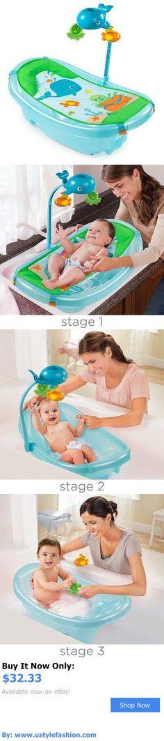Baby Bath Tubs: Summer Infant Ocean Buddies Newborn-To-Toddler Baby Tub With Toy Bar BUY IT NOW ONLY: $32.33 #ustylefashionBabyBathTubs OR #ustylefashion
