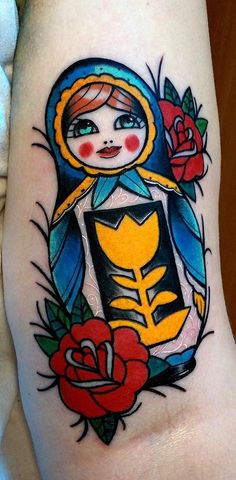 My matrioshka tattoo done by Konrad KNRD from Studio 3F in Białystok (Poland)
