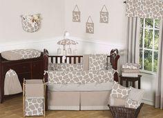 Giraffe Crib Bedding Set by Sweet JoJo Designs - http://www.childrensbeddingboutique.com/giraffe-crib-bedding-set.aspx