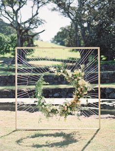 woven floral backdrop australian