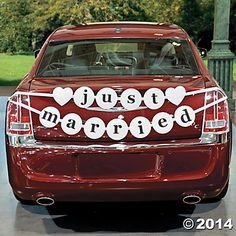 Just Married Car Pennant Banner