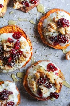 Sweet Potato Rounds with Herbed Ricotta and Walnuts - The Roasted Root