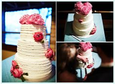 Rough texture wedding cake - from the girl at House of Turquoise  #GabrielCo #MyPerfectWedding