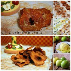 El festín de Marga: Chips de manzanas en tres versiones: básica, con j...