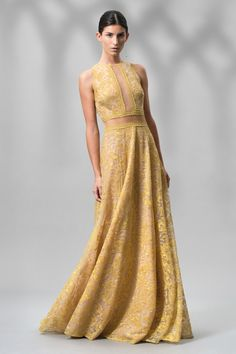 Gold Chain Mesh Gown