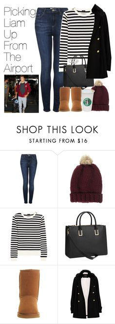 """Picking Liam Up From The Airport"" by onedirectionimagineoutfits99 ❤ liked on Polyvore featuring Topshop, ASOS, Joseph, H&M, UGG Australia and River Island"