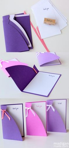 """""""Bridesmaid dresses"""" for notes, thank you's, etc."""