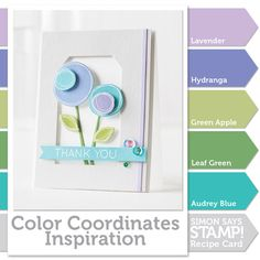 Simon Says Stamp Color Coordinate Recipe 1.10.15