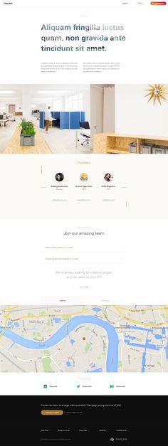 Takumi design aboutus Marketing Websites, Simple Web Design, Mobile Web Design, Ui Web, Ui Ux Design, Landing, Design Inspiration, Layout, Digital