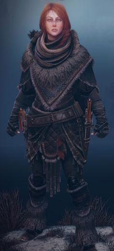 f Rangers Med Armor Cloak Daggers Sword Longbow Maëlys => Varigal et ex-menuisière