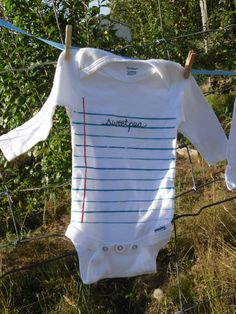 notebook paper designed onesie with embroidered by localinc, $15.00
