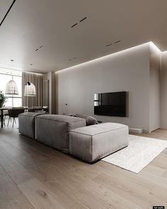 Apartment Interior, Apartment Design, Home Living Room, Interior Design Living Room, Living Room Designs, Living Room Decor, Home Room Design, House Design, House Rooms